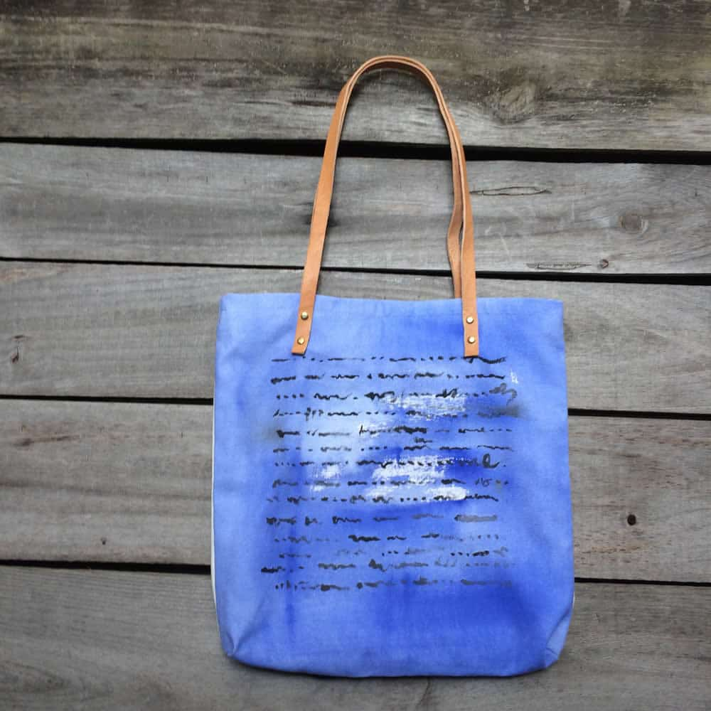 Indigo Blue Tote Bag