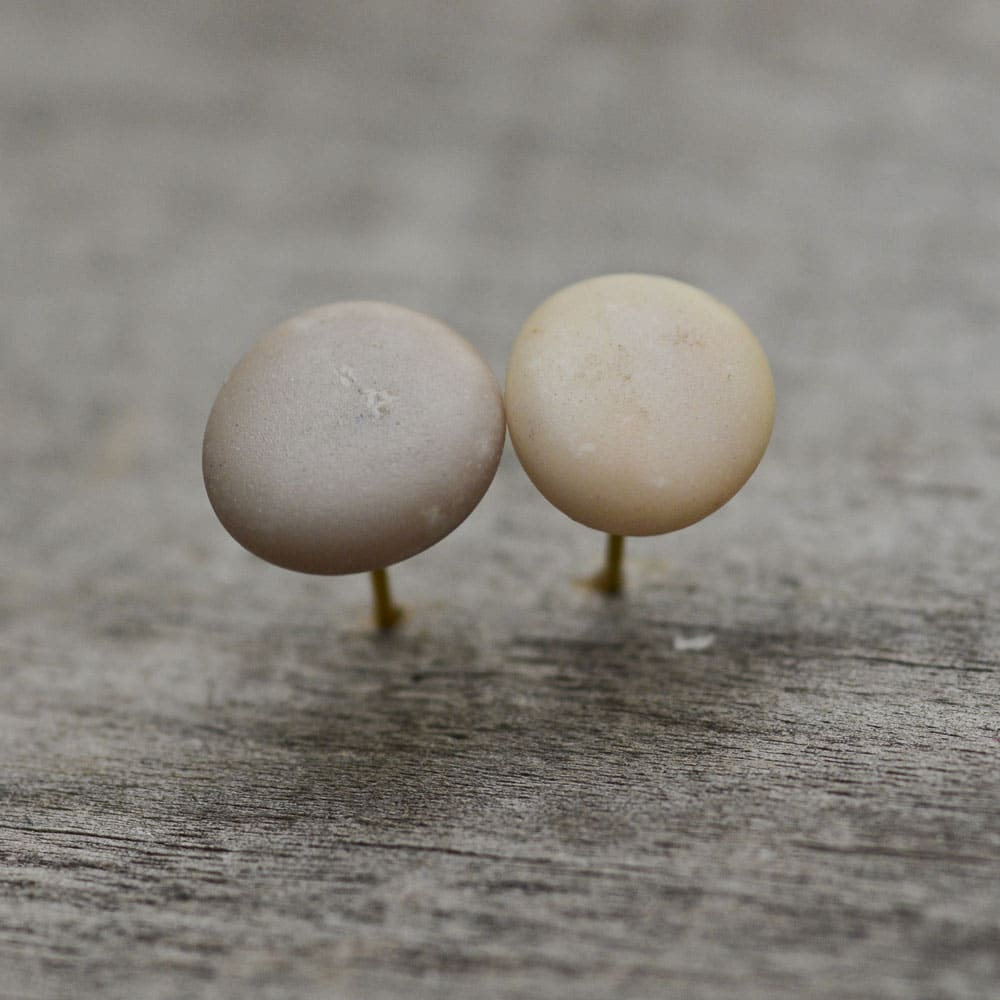 Pink & Gray Small Stud Earrings