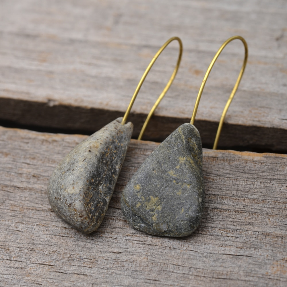 stone simple jewelry to natural large etsy beach handmade for pebble pin australia similar of in on items earrings river lovers