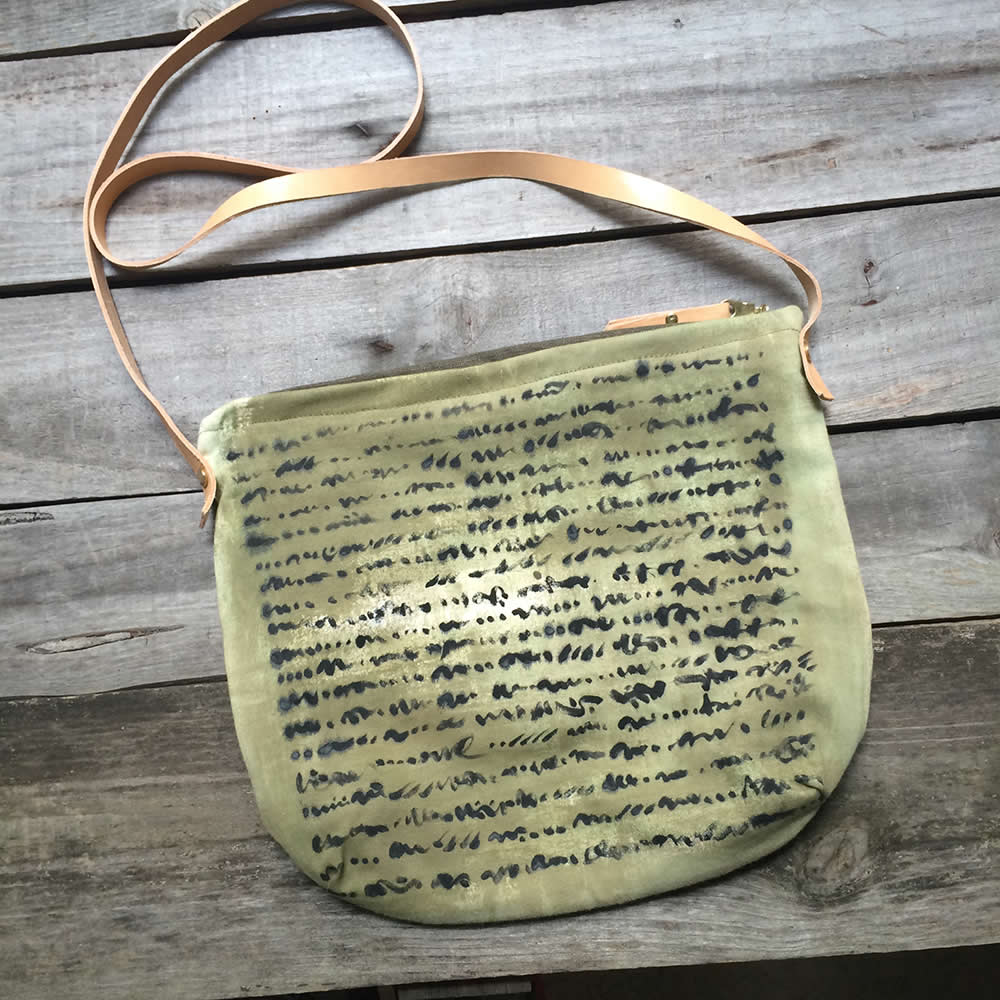 Green Big Day Bag Letters
