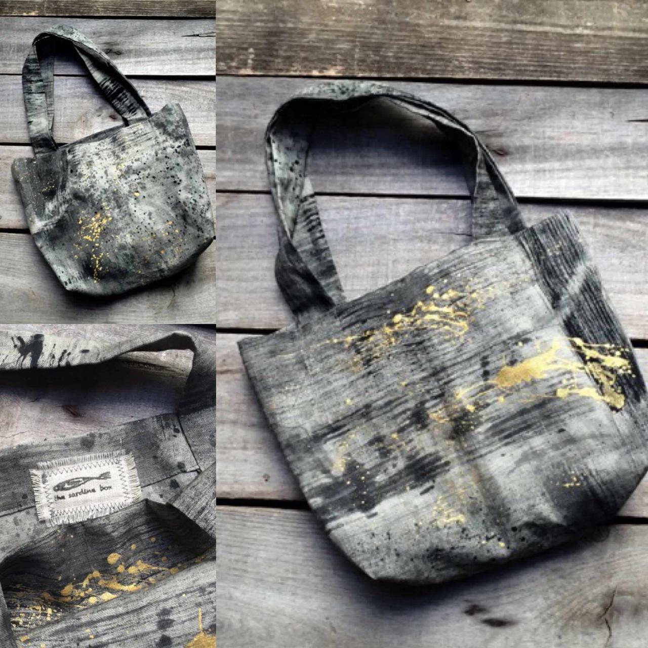 Metallics Small Linen handbagMetallics Small Linen handbag